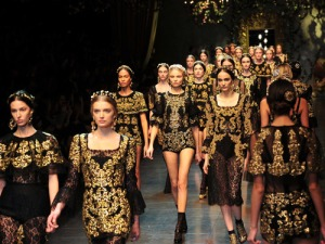 Baroque and Fabulous at Dolce and Gabana