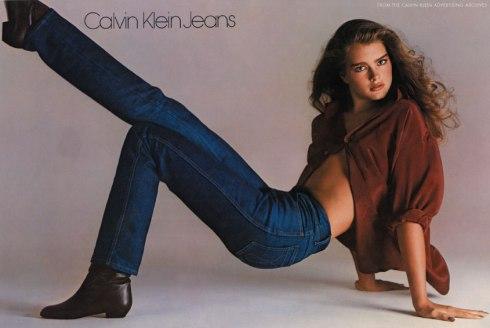 Iconic Calvin Klein ad shot by Richard Avedon