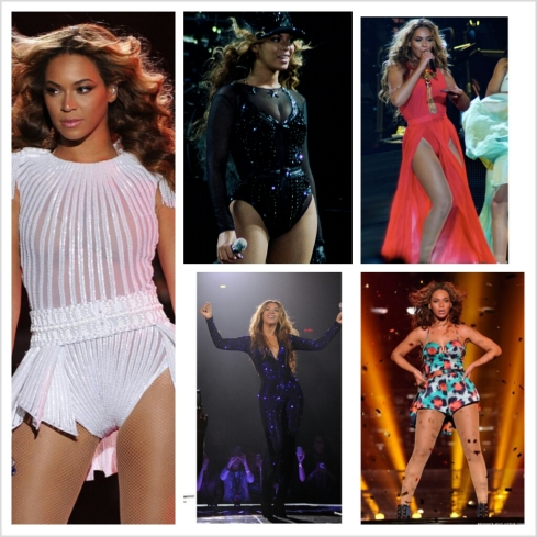 The fashions of Mrs. Carter.