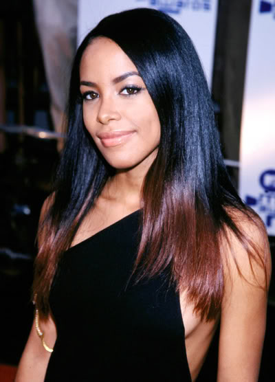 A trendsetter in every sense of the word. Aaliyah rocking an ombre hairstyle.